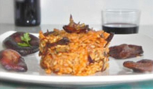arroz salteado con setas